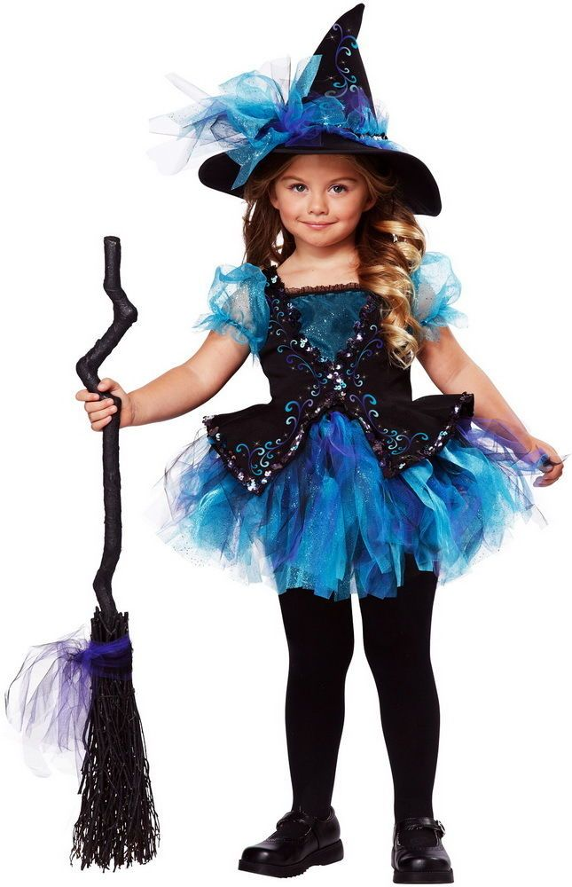 Darling Little Witch Sorceress Enchantress Halloween Costume Blue Toddler Girls #CaliforniaCostumeCollection  $21.56
