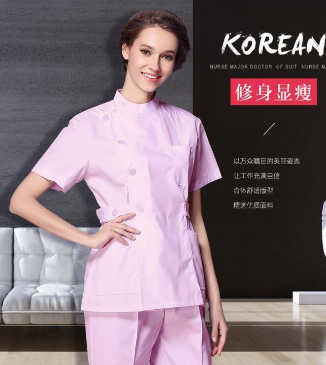 100 Cotton Medical Scrubs Short sleeves Hospital nurse uniform Pet hospital uniforms Dental uniforms suit