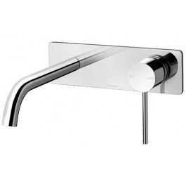 Vivid Slimline 180mm Wall Bath Mixer