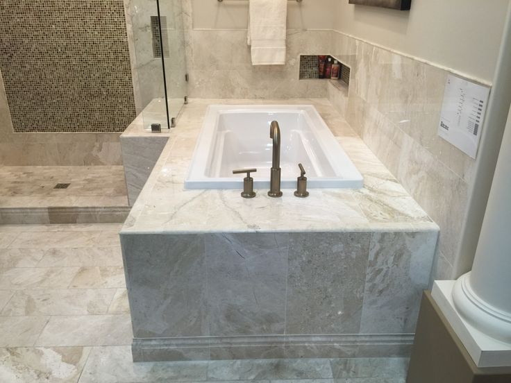 Drop In Tub With Tile Surround Bathrooms Remodel
