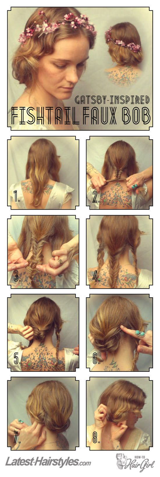 The minute I master fishtailing, I am trying this! I love how it looks. I'm perpetually on the hunt for ways to style my long hair to look short.