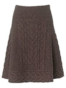 cable knit skirt - no pattern only image for inspiration. Skirt could be knit in round then border stitches picked up to complete