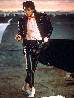 MJ, Billie Jean. ONE OF THE BEST SONG INTROS EVER!! No one rocks a bin liner suit that well either :P