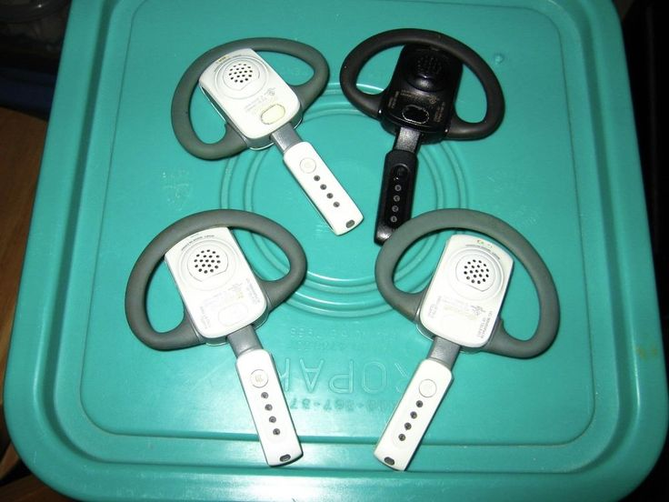 Four Used Xbox 360 Wireless Headsets