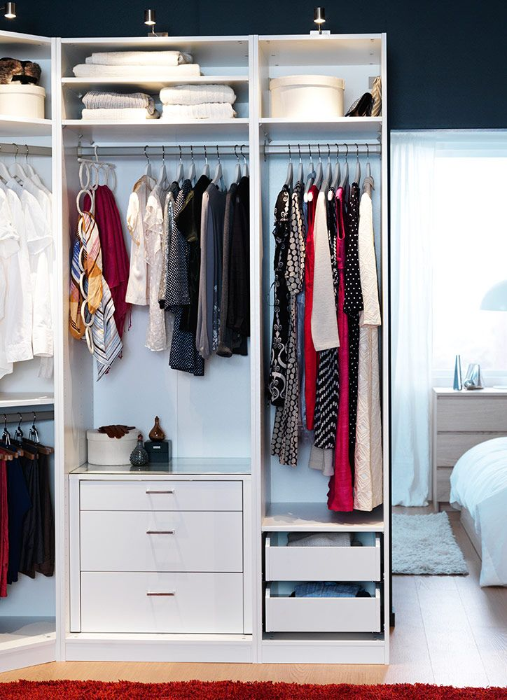 Master ClosetThe PAX Wardrobe System Can Also Be Used Without Doors To Create A Custom Walk In Closet Ikea Offers Full Complement Of Interior