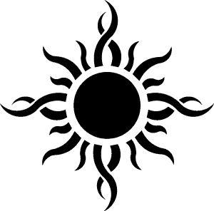 tribal sun tattoo image by azaz3l9 - Photobucket