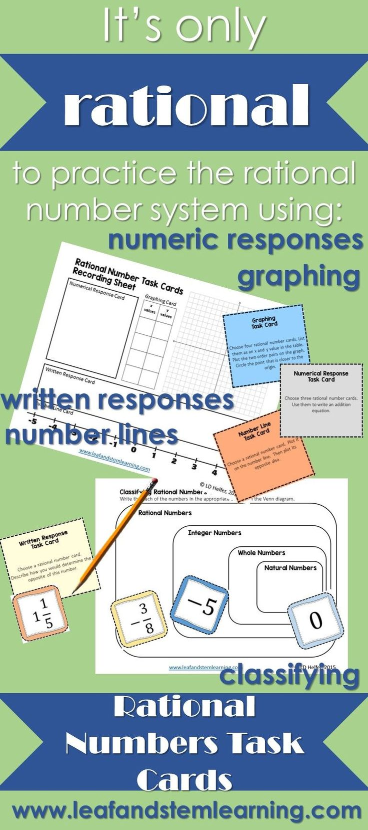 Rational Numbers Task Cards Rational numbers, Task cards