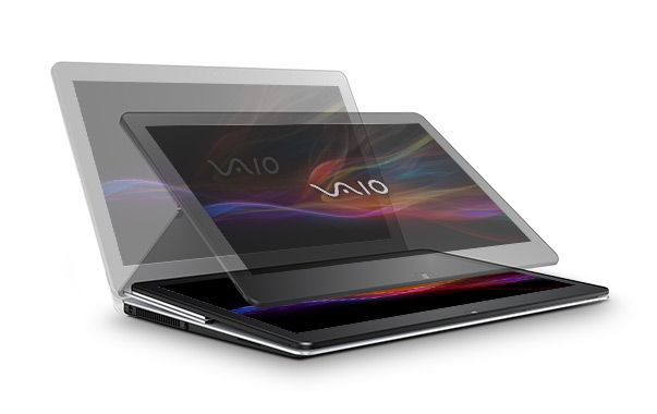 VAIO® Fit multi-flip™ - Najwyższej klasy hybrydowy laptop, gwarantujący bezkompromisowość działania. Zasilany procesorem czwartej generacji Intel® Core™ i7¹.