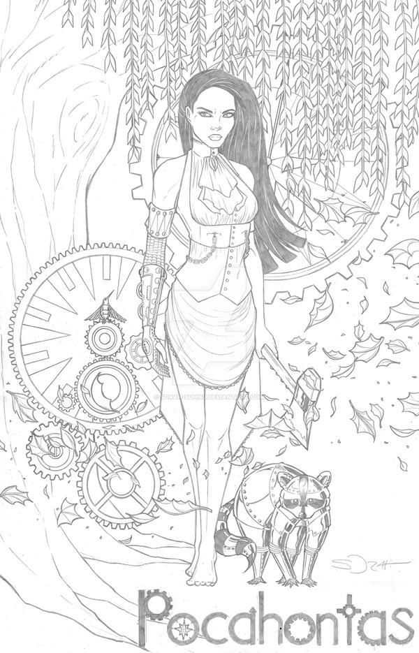 Gothic Disney Princess Coloring Pages Pictures