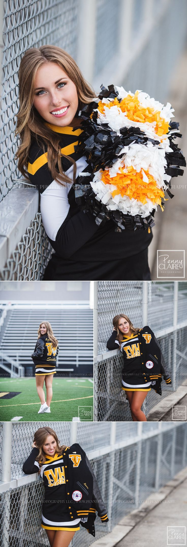 Penny Claire Photography Cheer senior pictures