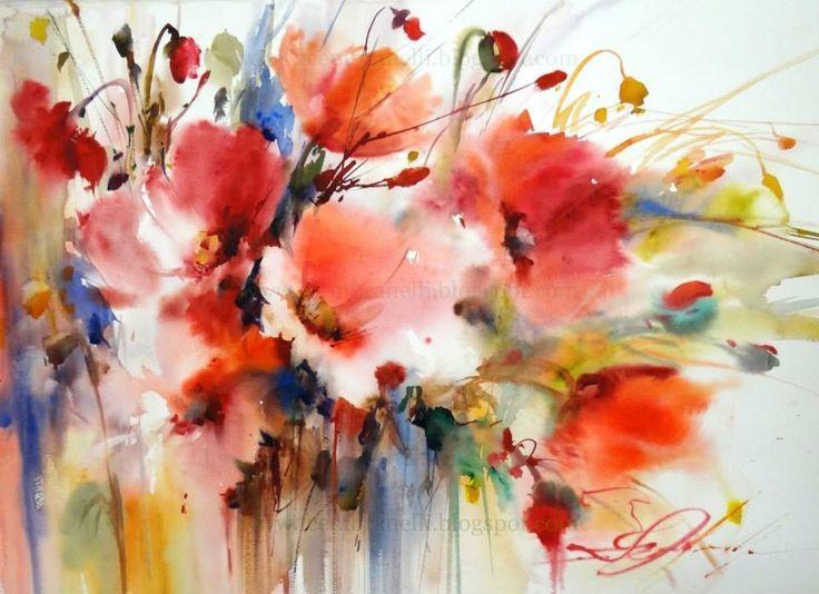 86 best images about artist fabio cembranelli on pinterest peinture fleurs coquelicots peinture aquarelle fleurs