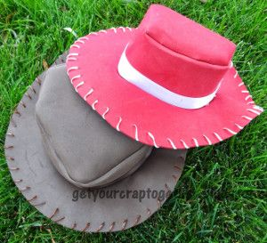 DIY Cowboy Hat - this is something you know you'll use for years. Adapt it for any costumer or project! It all starts with this simple tutorial.