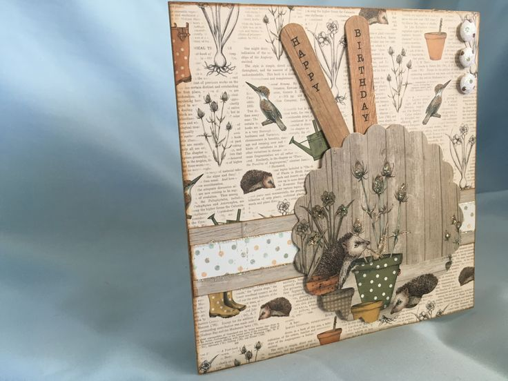 Made by Laura Johnson (Craftwork Cards 'The Potting Shed')