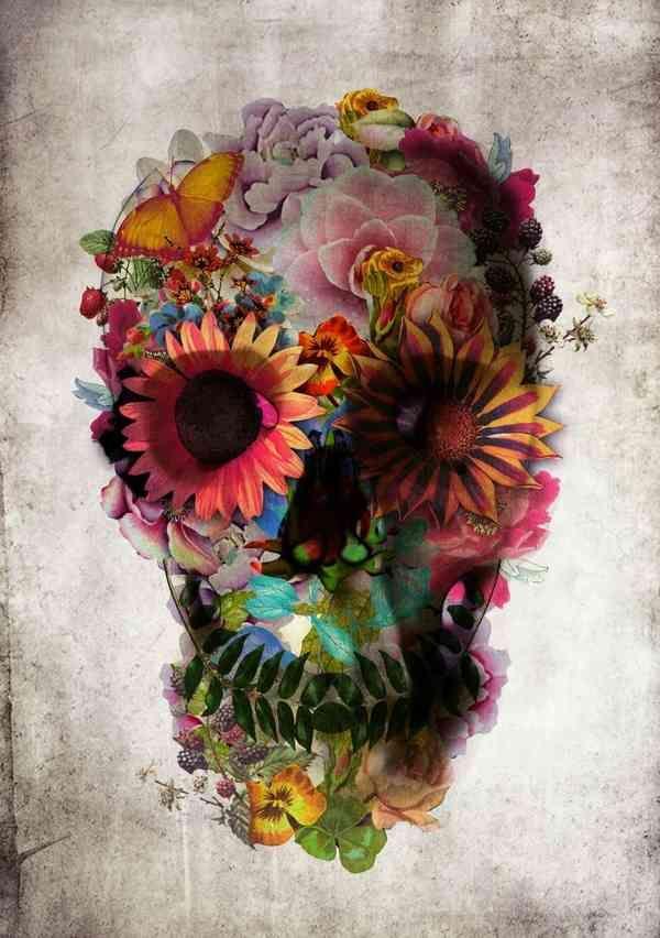 Cráneos decorados por Ali Gulec