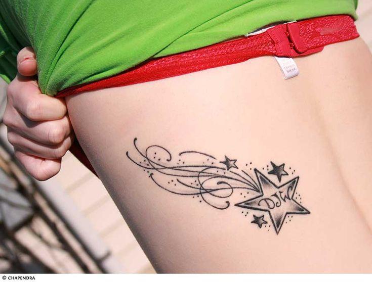 Star Tattoos | Shooting Stars and Nautical Star Tattoo Designs