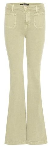 J Brand Demi High-rise Patch Pocket Flared Jeans