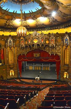 Fox Theatre ~ St. Louis, Missouri.  A remarkable theater where I got to see Robin Williams.  God Bless Robin and his family.