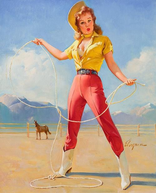 Vintage Cowgirl Pinup
