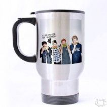 5 Seconds Of Summer Collage water melon Travel Mug