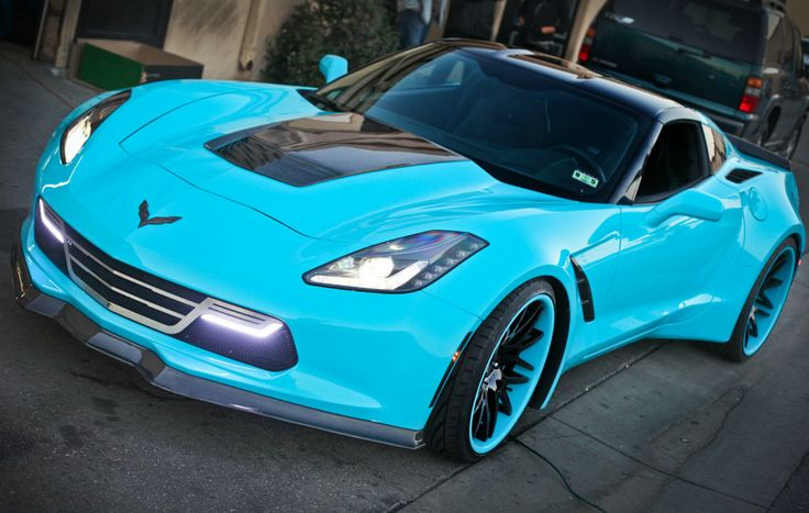 Sensational! This Custom Wide Body Chevrolet Corvette Stingray is one in a million. Click the image to find out more.  #Forgiato #carporn #spon