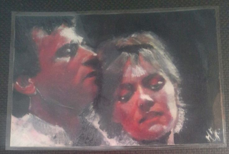 Aceo double  plastificato jack  o'neill & Samantha Carter stargate sg1. 10x15 cm