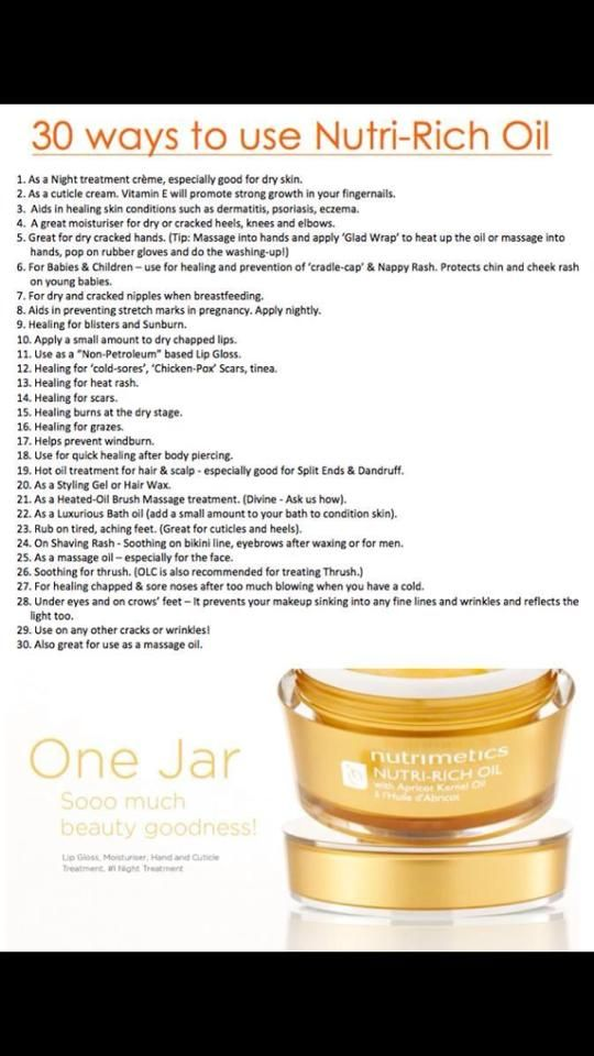Nutri-Rich oil....A cream that has been around for 47 years and still going strong!! So many ways to use this remarkable apricot kernel enriched night cream....