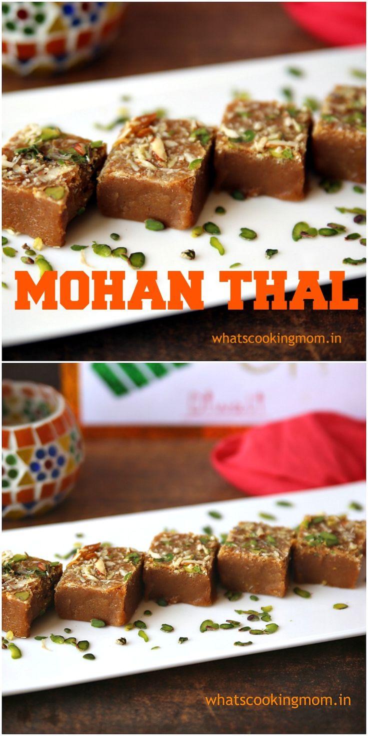 Mohan Thal - traditional Indian sweet. #indian #sweet #diwali