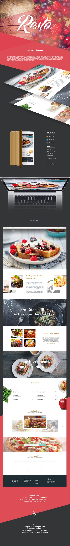 Resto - Restaurant web UI design on Behance