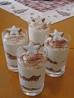 Mascarponecreme mit Zimtsternen, ein sehr leckeres Rezept aus der Kategorie Dessert. Bewertungen: 122. Durchschnitt: Ø 4,5.