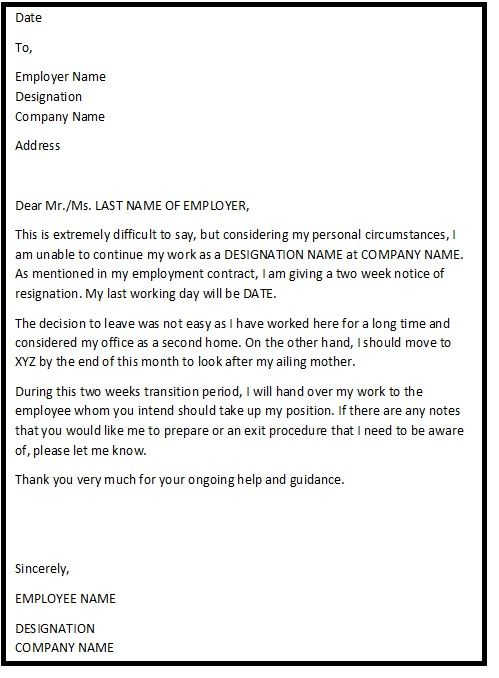 Best 25+ Simple resignation letter format ideas on Pinterest - noc certificate for employee