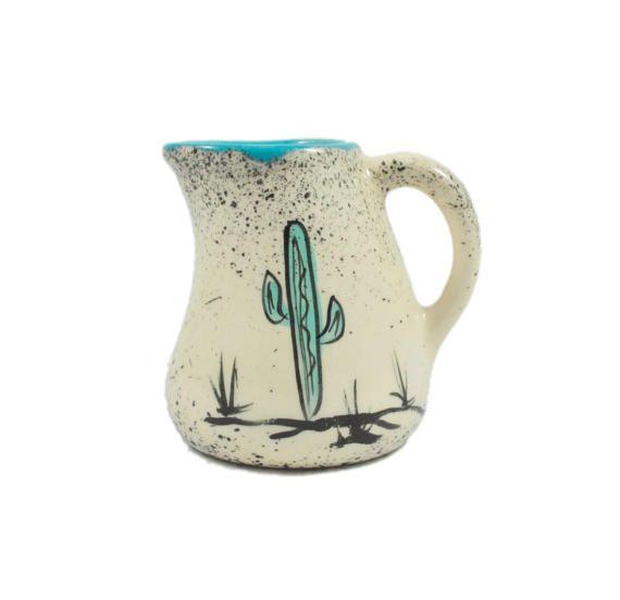 Vintage Cactus Creamer Small Pitcher Loma of Arizona