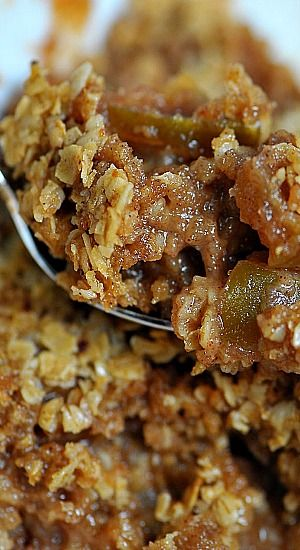 Apple Crisp Recipe ~ if you are looking for an Apple Crisp Recipe that immediately makes you want to cozy up by the fire after enjoying a beautiful fall day, then this is it! Of course, a scoop of ice cream takes it right on over the top!