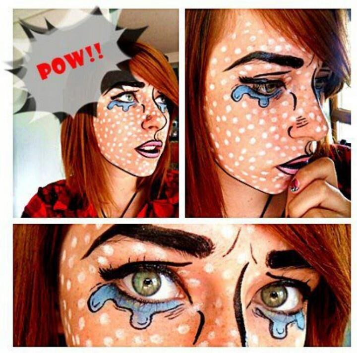 Comic makeup next Halloween!