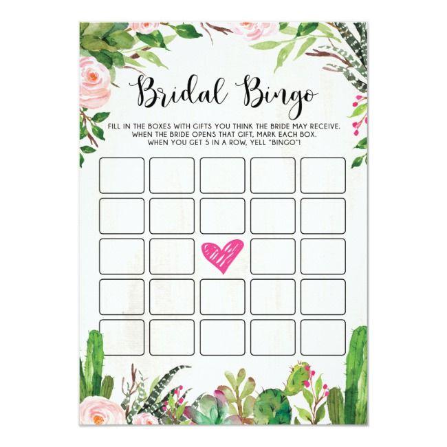 printable games wedding shower bridal shower game cactus succulent bridal bingo game  cactus bridal shower pink