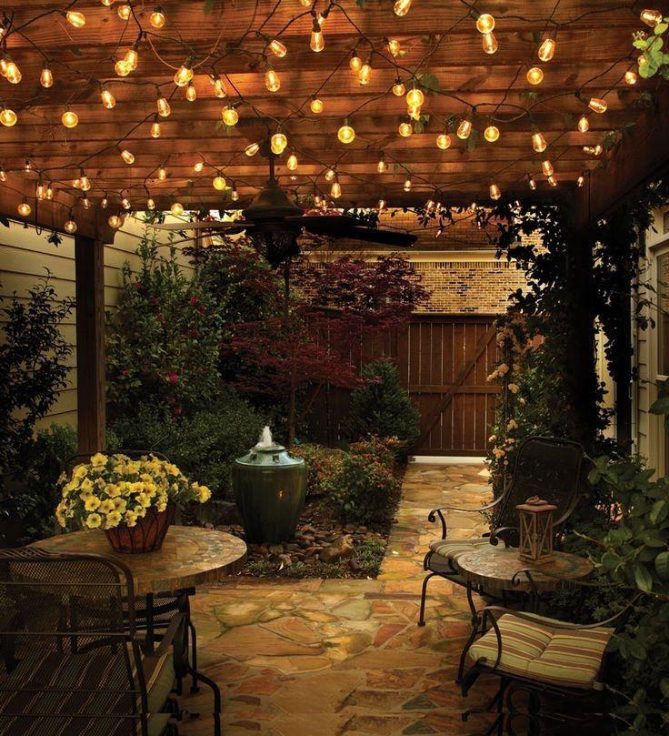 Outdoor Lighting Ideas And Options: Best 25+ Garden Fairy Lights Ideas On Pinterest