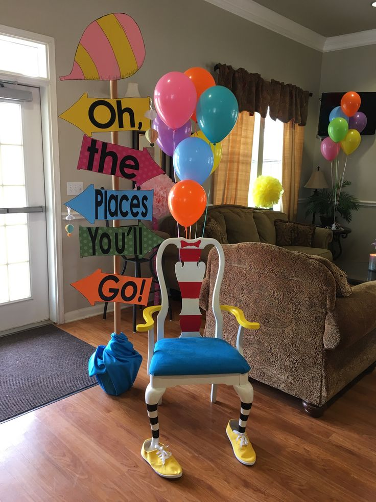 Graduation party with oh the places youll go theme