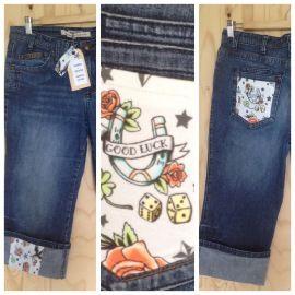 Upcycled denim, jeans - Driekwart jeans