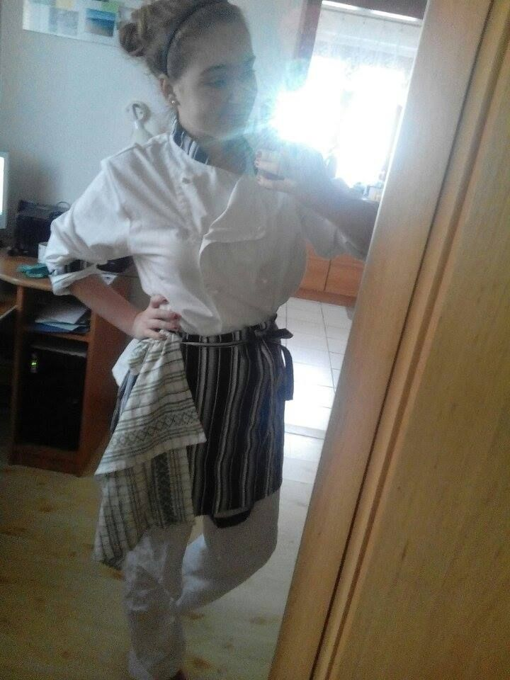 A uniform we wear when it's pactice at school kitchen,I personaly love it