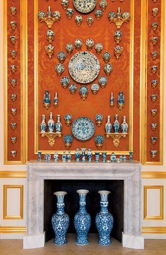 Peter Marino: Peter O'Toole, Peter Marino, Blue, Design Interiors, Home Interiors Design, Orange Wall, Modern Houses Design, Design Home, Design Offices