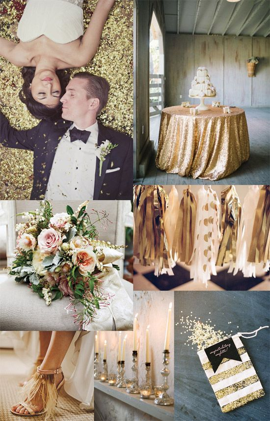 Glitter Gold Wedding Celebration