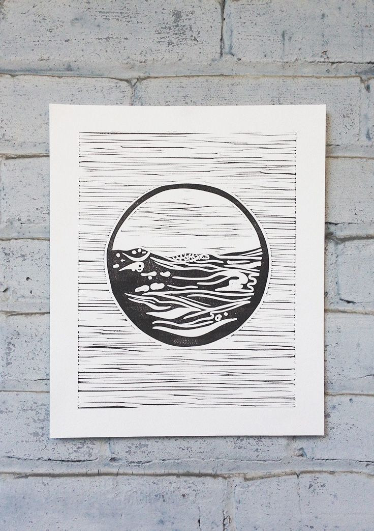 Set Forth Studio – Sea Linocut Print, $45 // This art print (part of our nature series) will look gorgeous on your wall, and makes a great gift. Buy it now in the shop!