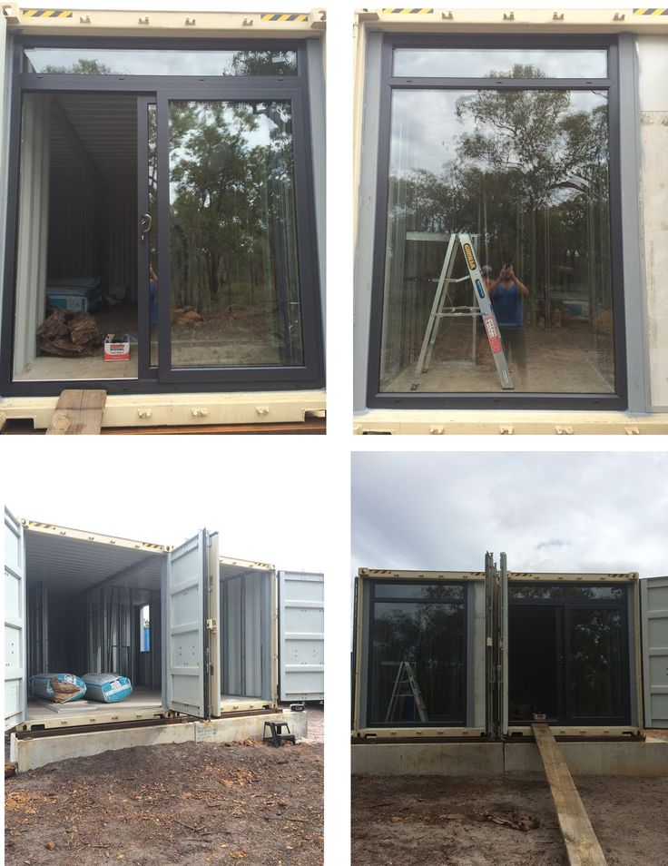 One of our most unusual installs to date, client is building a home from sea containers and we have completed the double glazing. #perth #seacontainers #doubleglazing