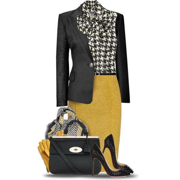 """Sometimes a good, bold mustard yellow is necessary.  """"Sunshine On A Cloudy Day"""" by yasminasdream on Polyvore"""