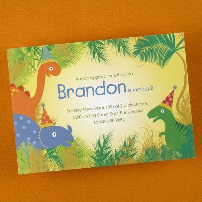 Dinosaurs Birthday Invitation   Free Spirit Invitations                                                                                                                                                                                 Plus
