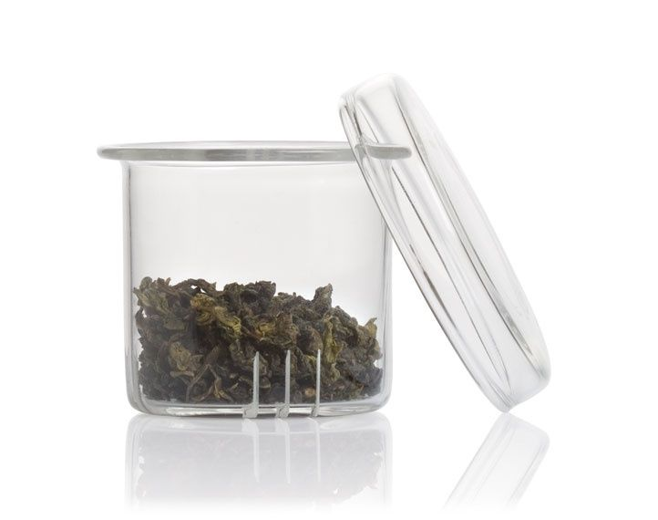 Sontu Infuser for Sontu Glass Teapot - Enjoy the view of our loose teas as they unfurl in clear view. Slits in this glass infuser provide water flow for infusion, keeping loose tea confined.