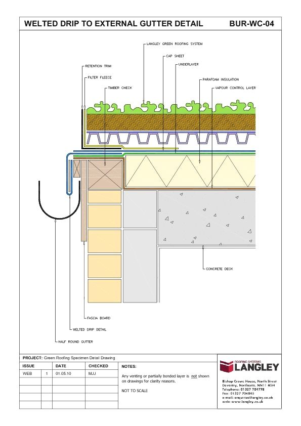Rooftop Garden Design Drawing