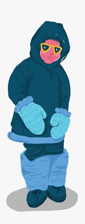 eskimo kid #illustration #kids