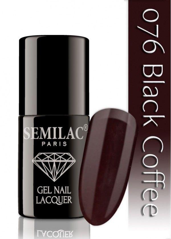 Semilac 076 Black Coffee