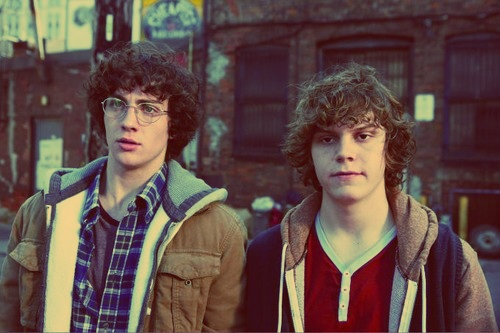 Aaron Johnson and Evan Peters. THE PERFECTION OF THIS PICTURE