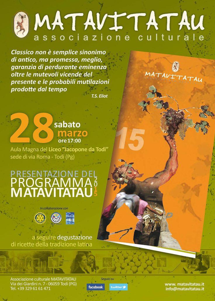 presentazione programma 2015 Matavitatau